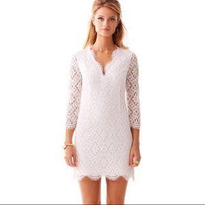 Lilly Pulitzer Meryl White Lace Dress Long Sleeve